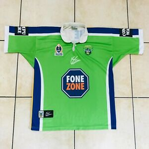Official NRL 2004 Canberra Raiders ISC Rugby League Jersey Shirt Men's L
