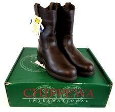 """Chippewa Men's 24661 10"""" EH WP Steel Toe Pull On Brown Boots US 8.5 WIDE K102"""