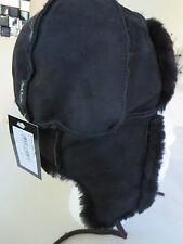 Paul smith-noir peau de mouton hunter/trappeur ushanka chapeau-taille m