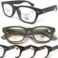 R878 Popular Classic Plastic Reading Glasses/Spring Hinges/Designed Retro Specs*
