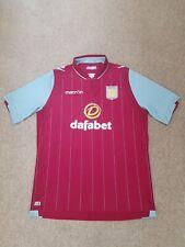 Aston villa 2014-15 Home football Shirt Size Mens Xxl