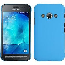 Hardcase Samsung Galaxy Xcover 3 rubberized light blue Cover + protective foils