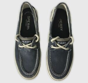 Sperry Top-Sider 0777914 Men's Sz 7 A/O 2 eye Faded Navy Blue Canvas Boat Shoes