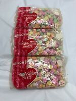 Vintage Brach's Conversation Hearts Lot of 3 10oz Packages Valentine's Day NEW