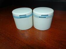 Vintage Tupperware Lot 2 Of Spice Shakers #1308 BLUE & WHITE