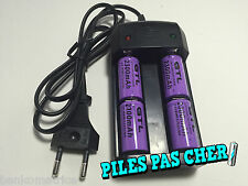 4 Piles Accus Rechargeables CR123A 16340 3.7V 2300Mah GTL Li-ion + CHARGEUR 2016