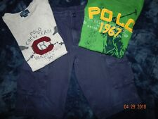 (3) Pc Ralph Lauren Boys 10/12 Shorts and Shirts Outfits Handsome Nice