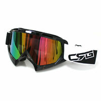 MX Black Frame Tinted lens Motocross MTB Off-Road Dirt ATV Bike Goggles GOOGGLES