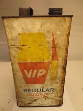 VIP gallon oil tin. motor oil. Shell. Esso.BP. garage.