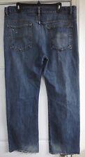 Buffalo Ruffer Jeans Size 38x32 Blue Jeans 100% Cotton Casual David Bitton