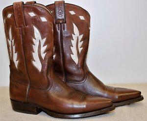 Bottes boots western santiags femme cuir marron SANCHO 40EUR 8US 6,5UK 25,7 cm