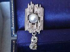 Drop/Dangle Excellent Cut Omega back Fine Diamond Earrings