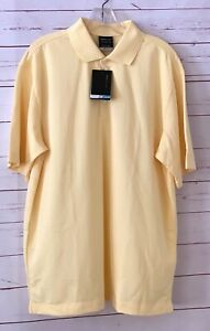 NWT NIKE GOLF Mens Size L Short Sleeve Polo Shirt Yellow