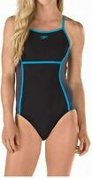 Speedo Women Swimwear Black Size 14 Perforated Endurance Lite One-Piece $88 #594