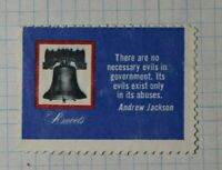 WWII Amvets Liberty Bell Andrew Jackson Patriotic Poster Stamp