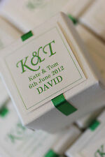 1 x Handmade Personalised EMERALD GREEN Favour Boxes - Any Quantity Any Design
