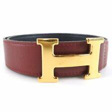 Hermes H belt 70 belt Red Calfskin Women