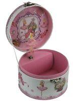 Schmuckkästchen rund mit Ballerina rosa Spieluhr Melodie Schwanensee 28048