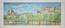 Jean FERNAND - Lithographie signée - Notre-Dame de Paris vue de la Seine