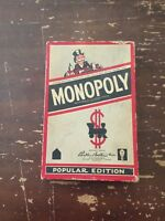 Vintage 1954 Parker Brothers Monopoly Popular Edition Game