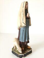 Heiligenfigur Heilige Bernadette Lourdes Gips Skulptur Statue Um 1900 French Rar