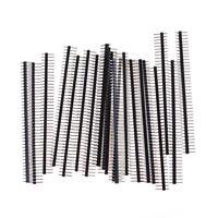 20Pcs 40Pin 2.54mm Single Row Straight Male Pin Header Connector Strip