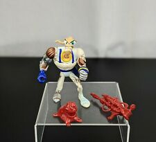 1995 Playmates Earthworm Jim Battle Damage Action Figure w/ Weapon Toy Snes Prop