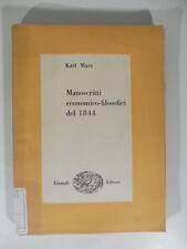 Manoscritti economico-filosofici del 1844, Bibl.cultura filosofica, Einaudi 1948