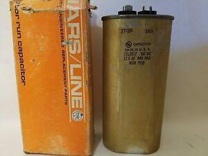 GE General Electric 21L3517 Motor Run Capacitor 17.5 uF MFD 440 VAC 77-26 163