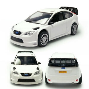 Ford Focus RS WRC Racing Car 1:43 Model Car Diecast Toy Vehicle Kids Gift White