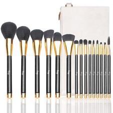 Morphe 15 Piece Set Black and Gold Makeup Pop Art Brush Sponge Travel Set NEW