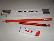 WÜRTH-Set - Zollstock, Bleistift, Kugelschreiber, Feuerzeug