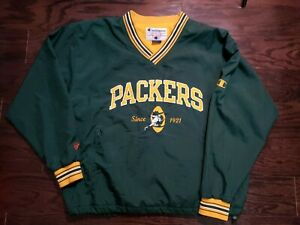 Vintage Champion Green Bay Packers NFL Football Puffer Jacket Mens Size XL Vtg