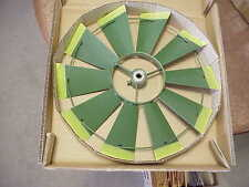 """FAN 12"""" ONLY REPLACEMENT PART Green with Yellow Tips 4 Ft Windmill..12...45A1-G"""