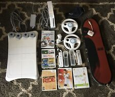 Wii Components With Tony Hawk Ride And Other Games