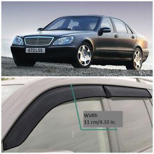 ME32498 Window Visors Guard Vent Wide Deflectors For Mercedes S W220 1998-2005
