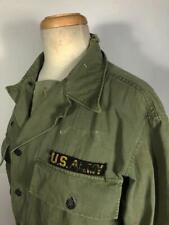 VINTAGE WW2 ERA 1940'S US ARMY HBT UTILITY SHIRT JACKET METAL BUTTONS MED WORN