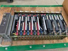 ALLEN-BRADLEY PLC-5 RACK 1771-A4B SUPPLY 1771-P7 WITH CARDS 1771-IXE 1771-PD