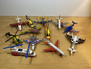 Lot of 12 Die-cast Airplanes/Helicopters (VARIOUS CONDITIONS)