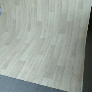 PVC CV Vinyl Bodenbelag Auslegware Holzoptik Schiffsboden Eiche wei/ß 200 300 und 400 cm breit verschiedene L/ängen Variante: 3,5 x 4 m