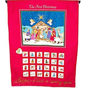 Vintage Handmade Advent Countdown Calendar The First Christmas Nativity Scene
