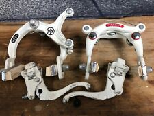 1984 Dia Compe MX 900 / 750 Old School BMX Brakes w Levers White NICE