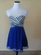 NWOT As you wish dress, size 3, blue with sequiens