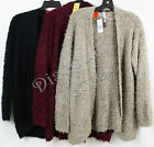 New Women's Kensie Open Front Eyelash Cardigan Sweater Super Soft Variety M L XL