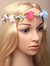 Boho Ladies Floral Flower Festival Wedding Garland Forehead Hair Head Band