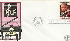 DRC CACHETS RICK CHASE JEROME KERN HAND PAINTED HP FIRST DAY COVER FDC