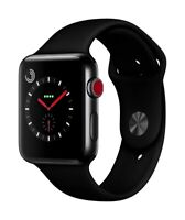 Apple Watch Series 3 GPS + Cellular Space Schwarz 38mm Edelstahl Sportband