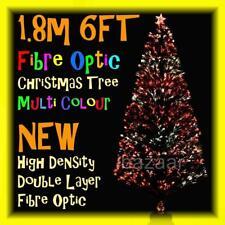 PREMIUM 1.8m 6FT 180cm DENSITY DOUBLE LAYER FIBRE OPTIC CHRISTMAS TREE (GREEN)