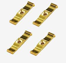 4 x SOLID BRASS TURN BUTTONS Rabbit Hutch Chicken Coop Cupboard Door Lock Catch