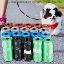 20 Rolls Pet Dog Waste Poop Bag Random Color Garbage Poop Cleaning Bag Trash Bag